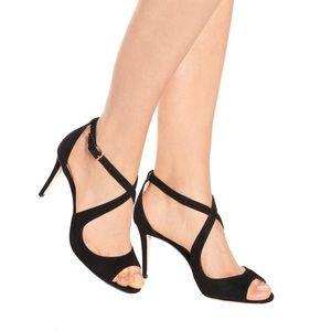 Saint Laurent Emily 85 Suede Sandals
